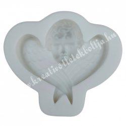 Marcipán, fondant mintázó, szilikon, angyalka, 4,2x3,9 cm