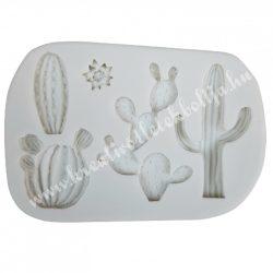 Marcipán, fondant mintázó, kaktuszok