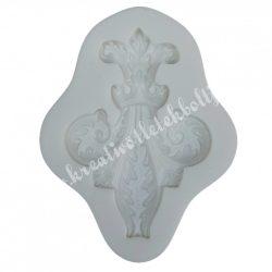 Marcipán, fondant mintázó, gótikus virágminta, 4x5,7 cm