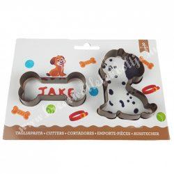 Marcipán és fondant kiszúró, műanyag, csont és kutya