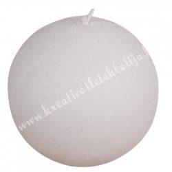 Adventi gömbgyertya, csillámos, halvány rózsaszín, 6 cm