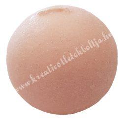 Adventi gömbgyertya, csillámos, pasztell rózsaszín, 6 cm