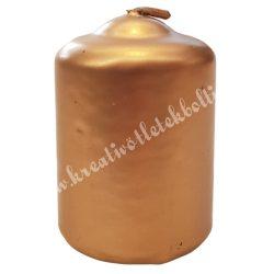 Adventi gyertya, metál arany, 6 cm