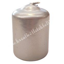 Adventi gyertya, metál ezüst, 6 cm