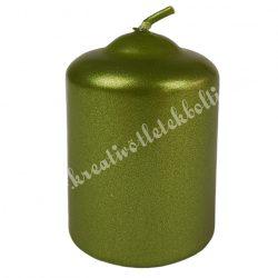 Adventi gyertya, metál oliva, 6 cm
