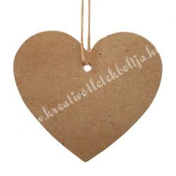 Ajándékkísérő szív, barna, 7x6 cm