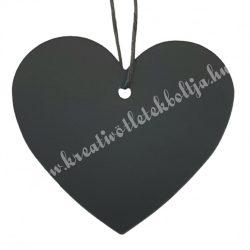 Ajándékkísérő szív, fekete, 7x6 cm