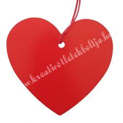 Ajándékkísérő szív, piros, 7x6 cm
