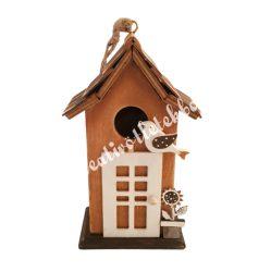 Akasztható madárházikó, fehér ajtóval