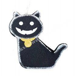 Akasztós dísz, macska, 4,7x4,7 cm