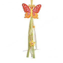 Akasztós filc pillangó, narancssárga, 18x65 cm