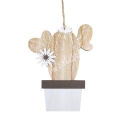 Akasztós fa kaktusz, két ággal, 14x18 cm