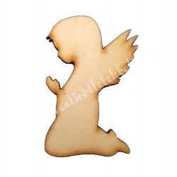 Angyal imádkozó, fafigura