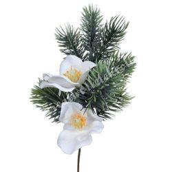 Beszúrós fenyő pick virággal, 32 cm