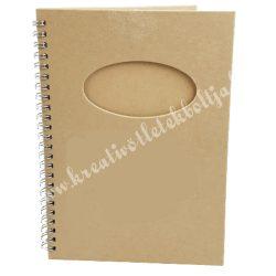 Papírmasé füzet - A5-ös, ovális kivágással