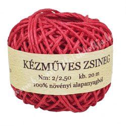 Kenderzsinór, piros, 0,8 mm x 20 m/tekercs