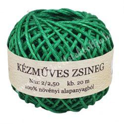 Kenderzsinór, zöld, 0,8 mm x 20 m/tekercs