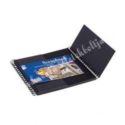 CREATIVE KIDS SCRAPBOOK album - 16x16 cm, fekete