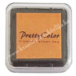 Bélyegzőpárna, tintapárna, világos narancssárga (51)
