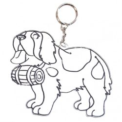 Festhető forma matricafestékhez, (kulcstartó), bernáthegyi kutya, 12x10 cm