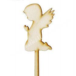 Beszúrós dísz, imádkozó angyal, 4,5x20,5 cm