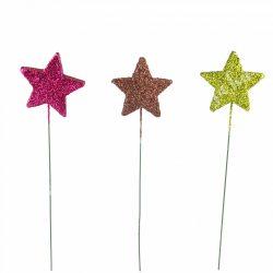 Betűzhető, glitteres csillag, 3 féle