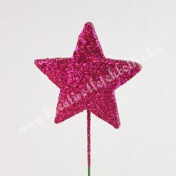 Betűzhető glitteres-strasszos csillag, pink