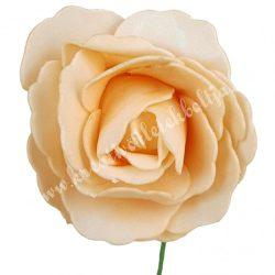 Betűzős polifoam rózsa, barack, 7 cm