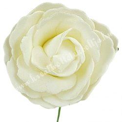 Betűzős polifoam rózsa, krém, 7 cm