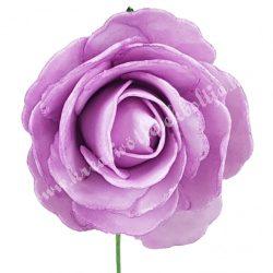 Betűzős polifoam rózsa, lila, 7 cm