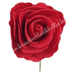 Betűzős polifoam rózsa, piros, 7 cm