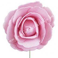 Betűzős polifoam rózsa, rózsaszín, 7 cm