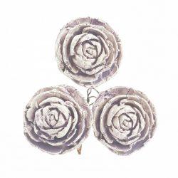 Betűzős rózsa, vintage halványlila, 3 db/csokor