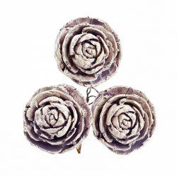 Betűzős rózsa, vintage lila, 3 db/csokor