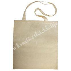 Bevásárló szatyor hosszú füllel, bézs, 38x42 cm, fül kb. 80 cm
