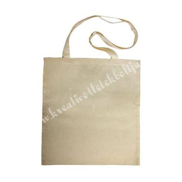 Bevásárló szatyor hosszú füllel, bézs, hosszúfülű, 38x42/80 cm