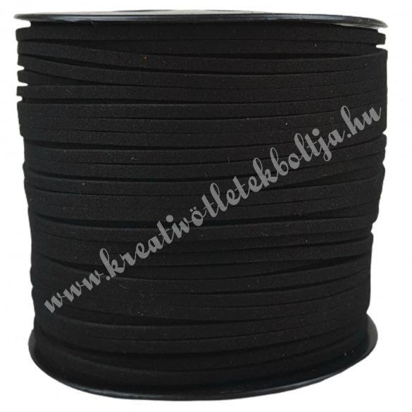 Szintetikus bőrszál, 3mmx1m, fekete