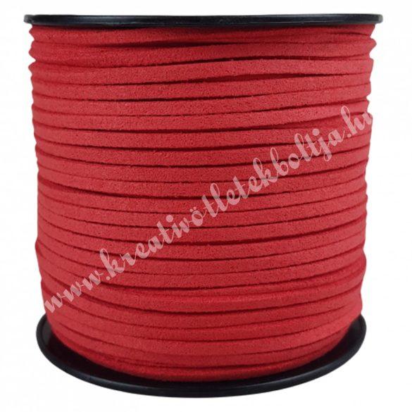 Szintetikus bőrszál, 3mmx1m, piros