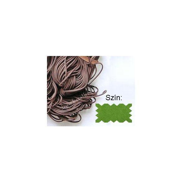 Szintetikus bőrszál, 2mmx75cm, fűzöld