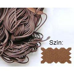 Szintetikus bőrszál, 2mmx75cm, konyak, 1 szál