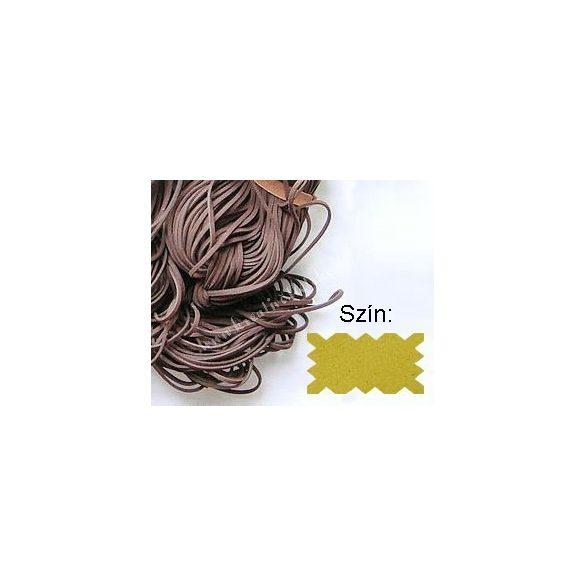 Szintetikus bőrszál, 2mmx75cm, krém