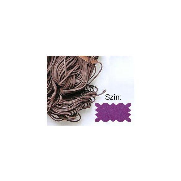 Szintetikus bőrszál, 2mmx75cm, lila