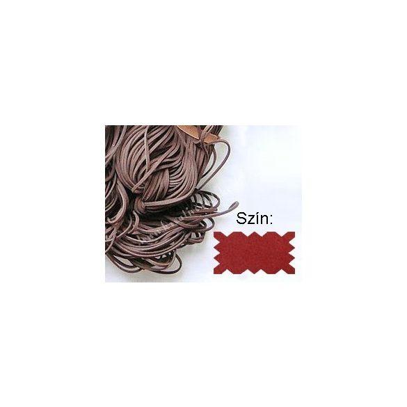 Szintetikus bőrszál, 2mmx75cm, piros