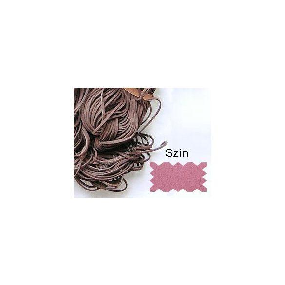 Szintetikus bőrszál, 2mmx75cm, rózsaszín
