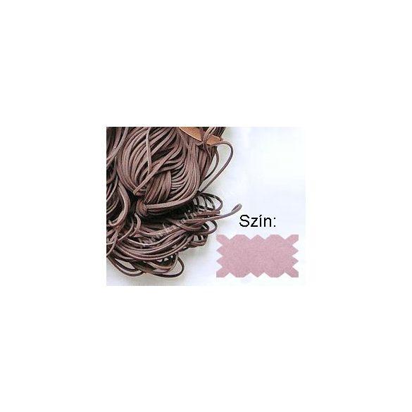 Szintetikus bőrszál, 2mmx75cm, világos rózsaszín