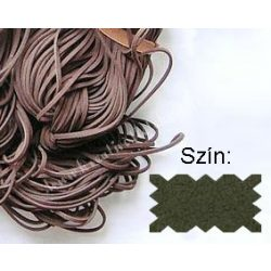 Szintetikus bőrszál, 2mmx75cm, zöld, 1 szál