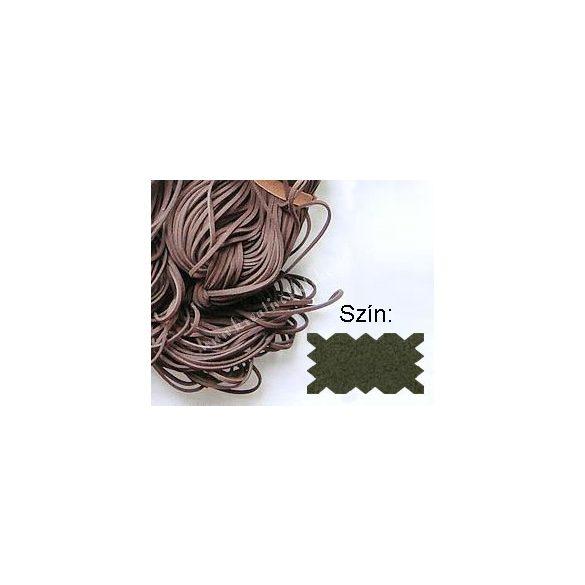 Szintetikus bőrszál, 2mmx75cm, zöld