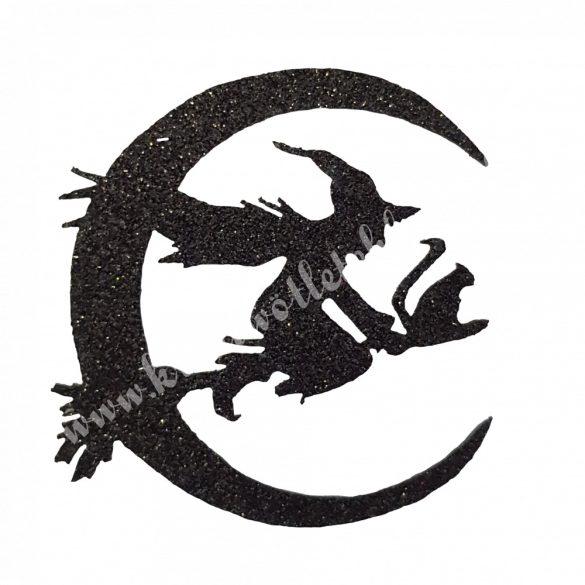 Csillámos dekorgumi boszorkány holddal