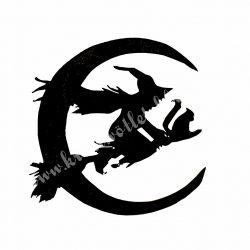 Dekorgumi boszorkány holddal