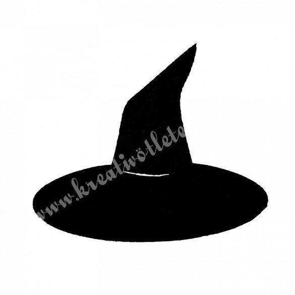 Filc boszorkány kalap, fekete